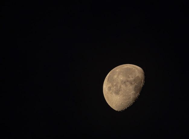 Demi-lune Dans Le Ciel Noir Photo Premium