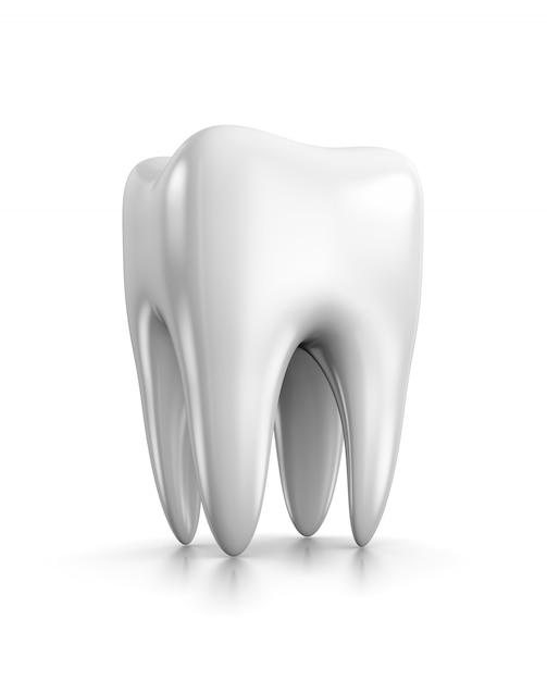 Dent Sur Blanc Photo Premium