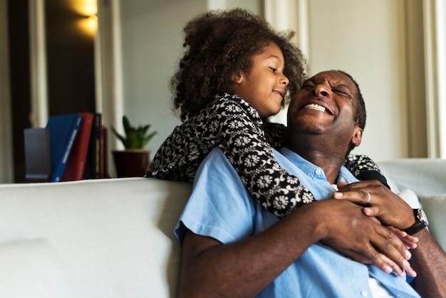Descente africaine maison familiale maison au repos Photo Premium
