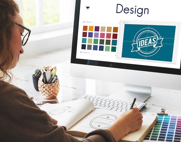 Design be creative inspiration logo concept Photo Premium