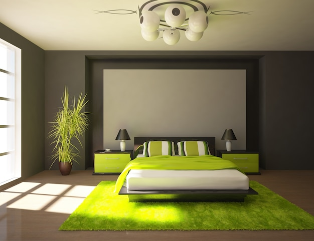 Design de chambre moderne Photo Premium