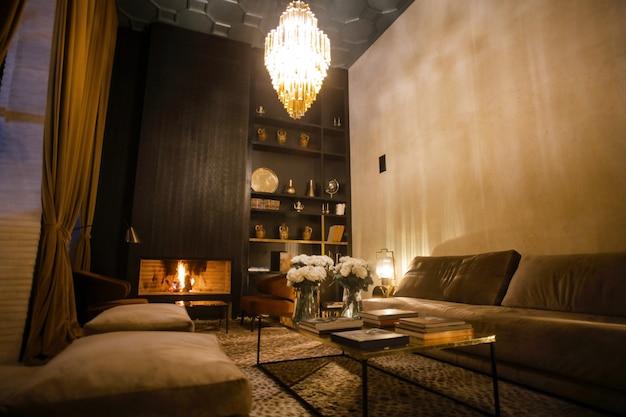 Design d'intérieur luxueux Photo Premium