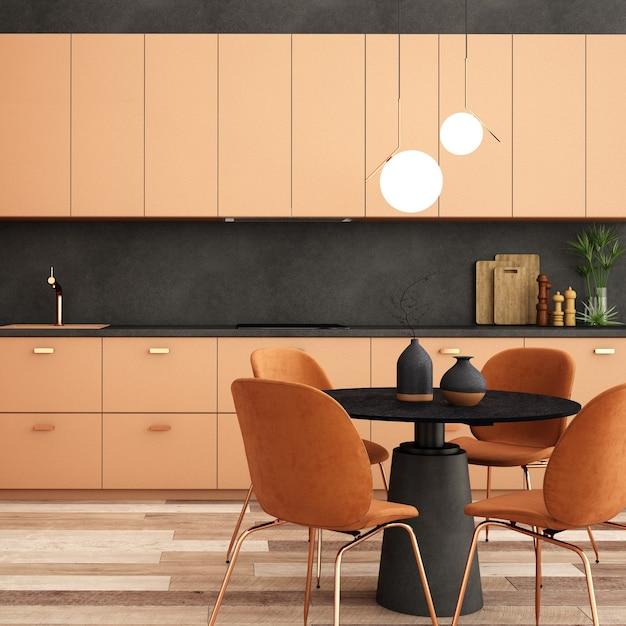 Design D'intérieur Pour Coin Cuisine Dans Un Style Moderne Photo Premium