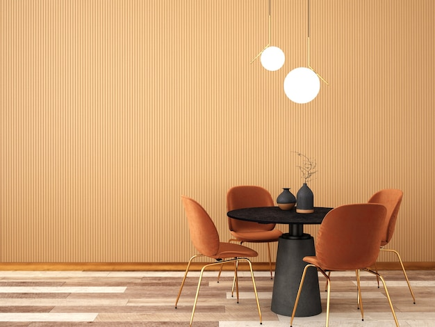 Design D'intérieur Pour Salle à Manger Dans Un Style Moderne Photo Premium