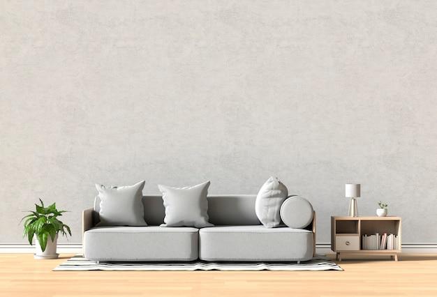 Design d'intérieur pour salon ou réception avec canapé, plante Photo Premium