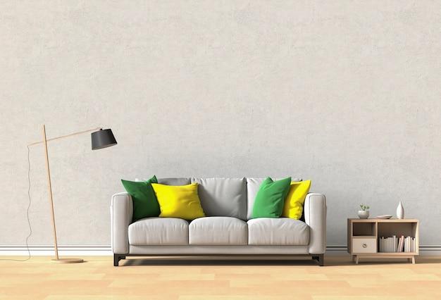 Design d'intérieur pour salon ou réception avec canapé Photo Premium