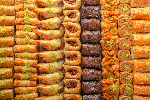 Dessert Baklava Turc Photo Premium