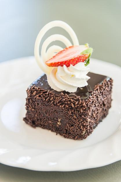 Dessert gateau au chocolat Photo gratuit
