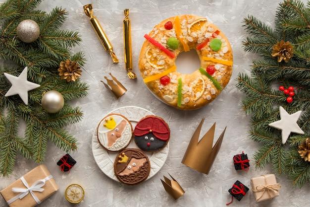Dessert Et Gâteau D'épiphanie Maison Photo gratuit