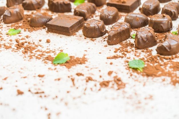 Dessert sucré au chocolat noir Photo gratuit