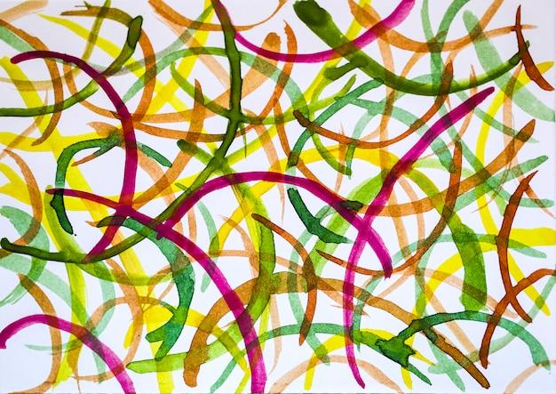 Dessin Aquarelle Abstrait Avec Stylisé Comme Arrière-plan. Photo Premium