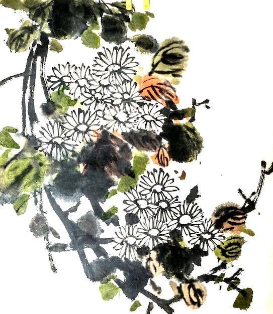 Dessin Artistique Oiseau Fleur Peinture Fleur Telecharger Des