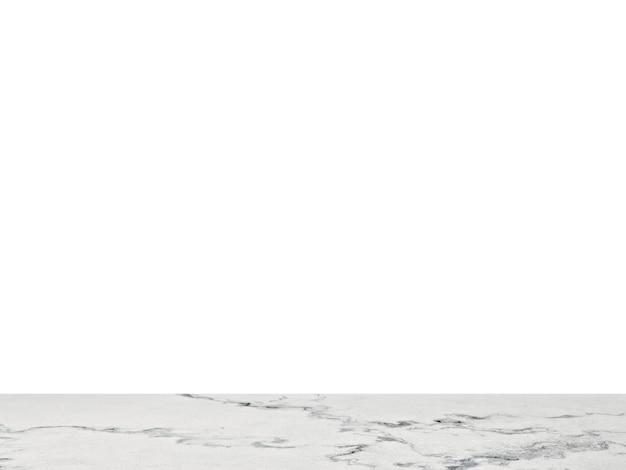 Dessus De Table En Marbre Blanc Isolé Photo Premium