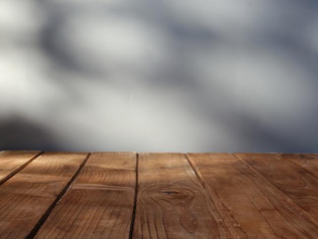 Dessus De Table Vide Pour La Présentation Du Produit Avec Mur Sur Fond Photo Premium