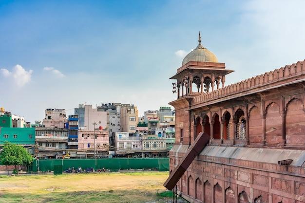 Détail architectural de la mosquée jama masjid, old delhi, inde. Photo Premium