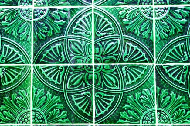 Détail Des Carreaux Azulejos Traditionnels Sur La Façade De La Maison, Porto, Portugal Photo Premium