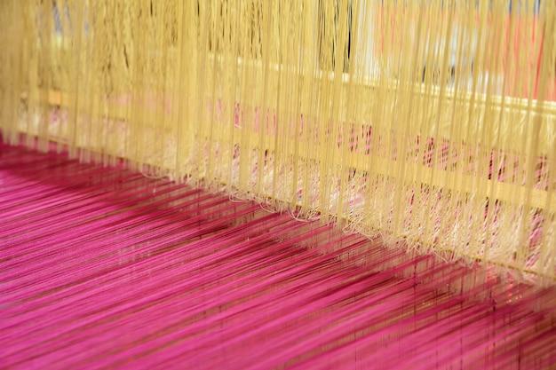 Détail du métier à tisser. Photo Premium