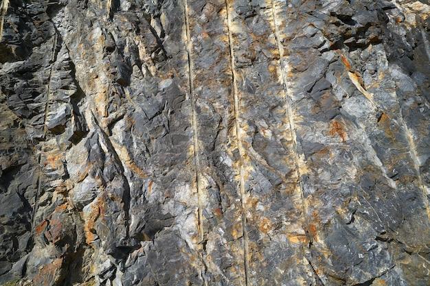 Détail pierre ardoise dans les pyrénées Photo Premium