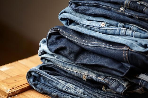 Les Détails Du Tissu Blue Jeans Photo gratuit