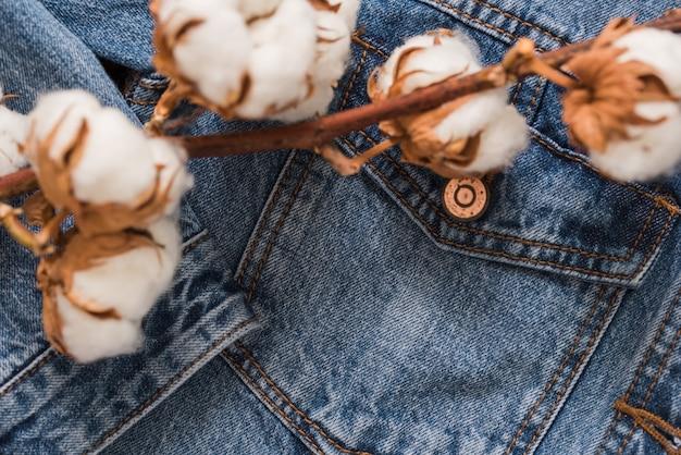 Détails veste en jean, veste en coton à fleurs en coton séché jeans ... 1c553424f6c1