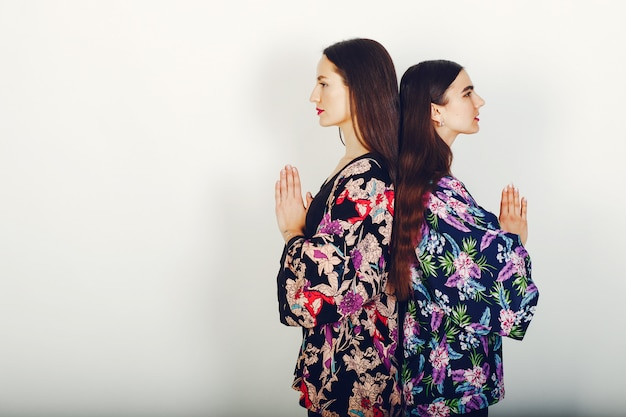 Deux belles filles dans un studio Photo gratuit