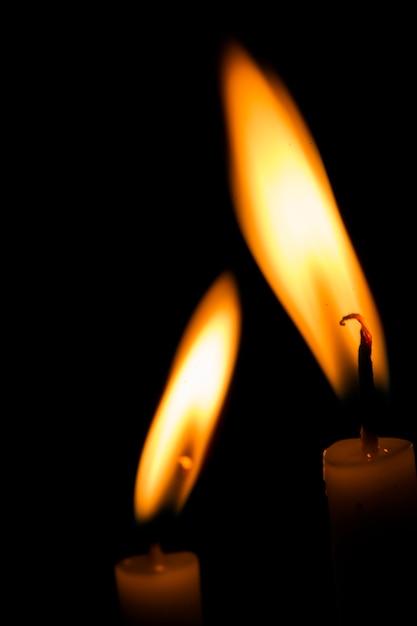 Deux bougies Photo gratuit