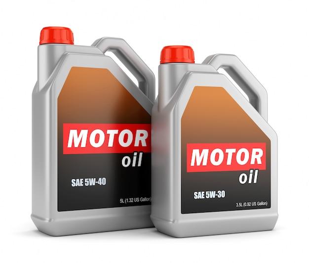 Deux Bouteilles D'huile Moteur Photo Premium