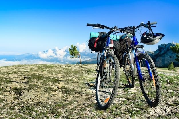 Deux vélos dans la nature Photo Premium