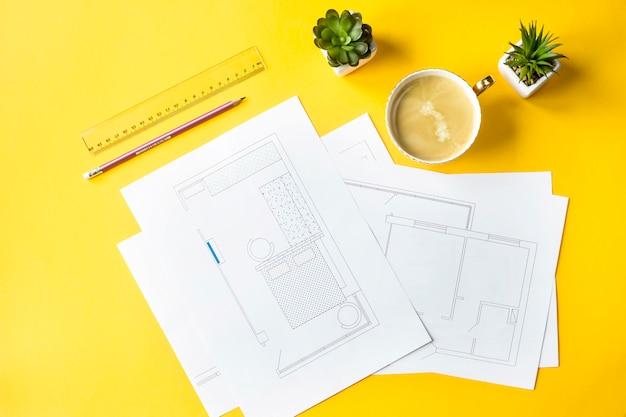 Développement du design et de l'agencement de l'appartement Photo Premium