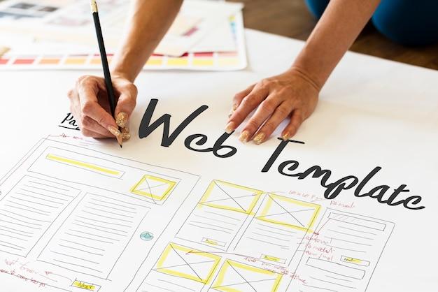 Développer le modèle web de codage de conception web de codage Photo Premium