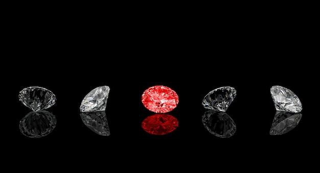 Diamant rouge coupe classique Photo Premium