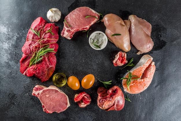 Diète protéinée carnivore Photo Premium