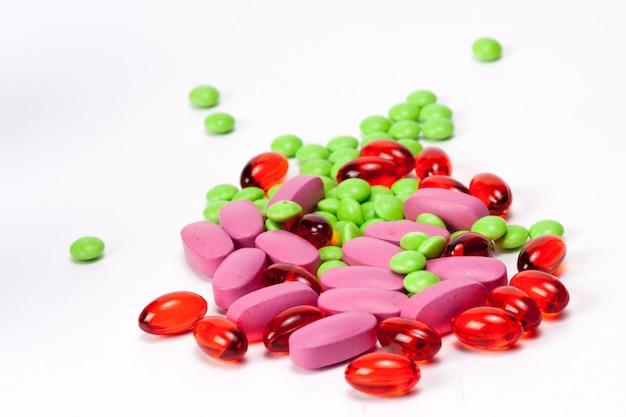 Diferentes tabletas Tabletas Píldora Mezcla Mezcla Terapia ...