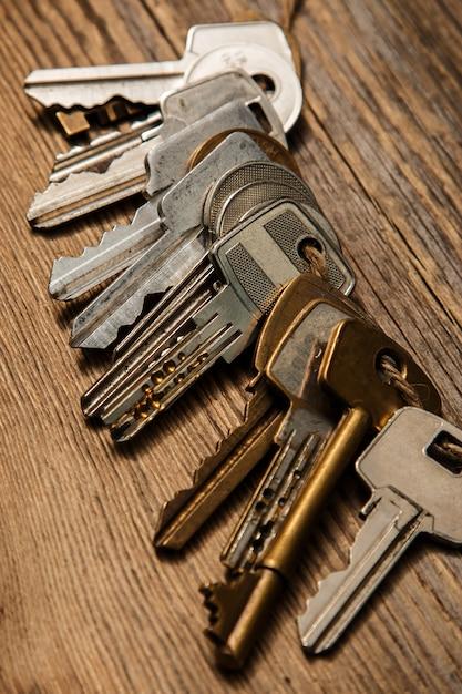 Différentes clés sur le fil Photo Premium