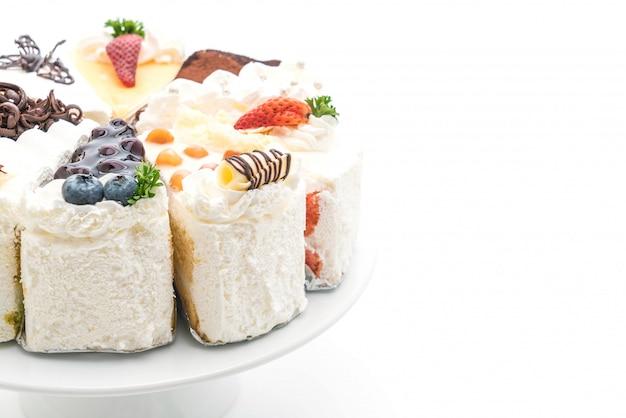 Différentes pièces de gâteau Photo Premium