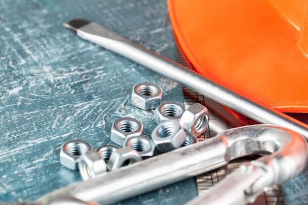 Différents outils de construction Photo Premium