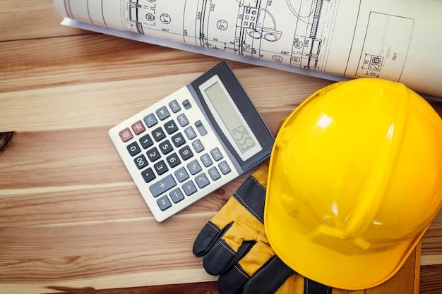 Directement Au-dessus Du Lieu De Travail Pour Le Travailleur De La Construction Photo gratuit