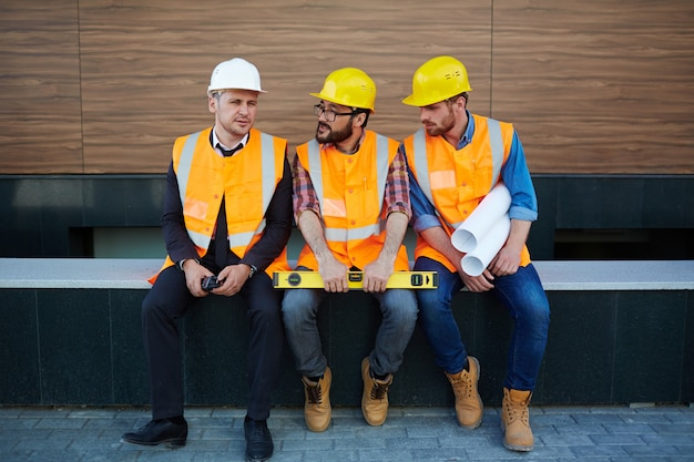 Discussion de constructeurs Photo gratuit