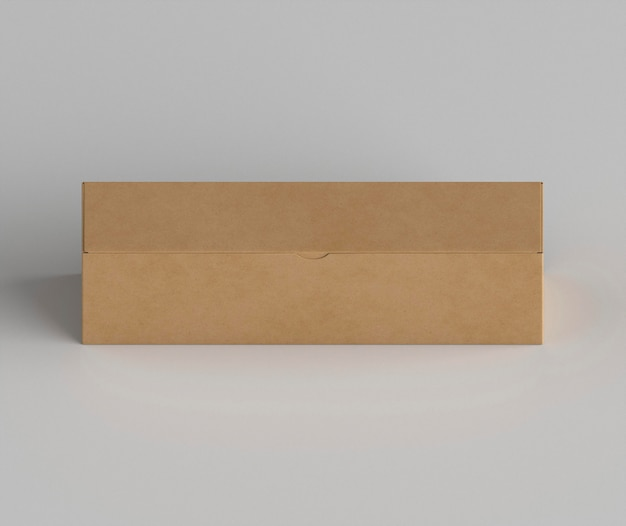 Disposition De La Boîte En Carton à Angle élevé Photo gratuit