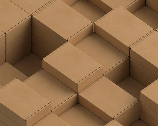 Disposition Des Emballages En Carton Photo gratuit