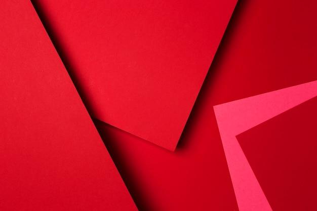 Disposition Des Feuilles De Papier Rouge Photo Premium