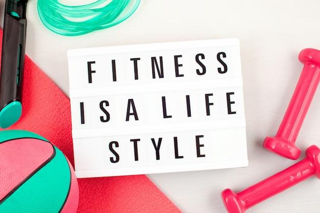 Disque plat d'haltères, équipements de sport et de fitness Photo Premium