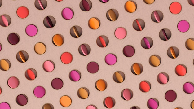 Disques Colorés En Rotation. Illustration Abstraite, Rendu 3d. Photo Premium