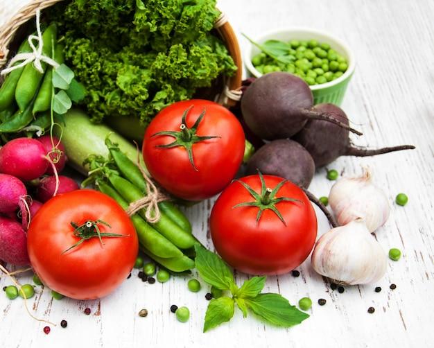 Divers légumes Photo Premium