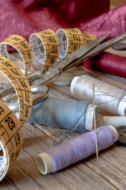 Divers outils de couture Photo Premium