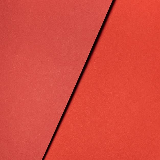 Diverses Nuances De Gros Plan De Papier Rouge Photo gratuit