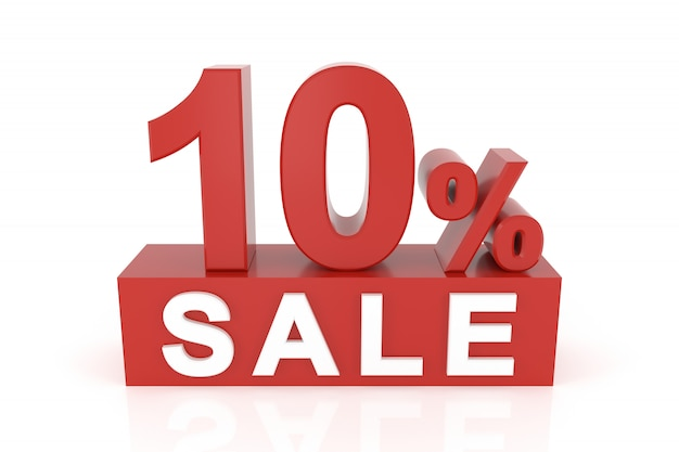 Dix pour cent de vente Photo Premium