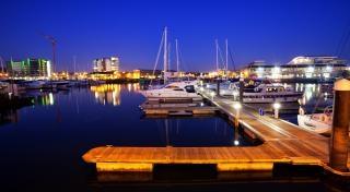 Docks de nuit, port Photo gratuit