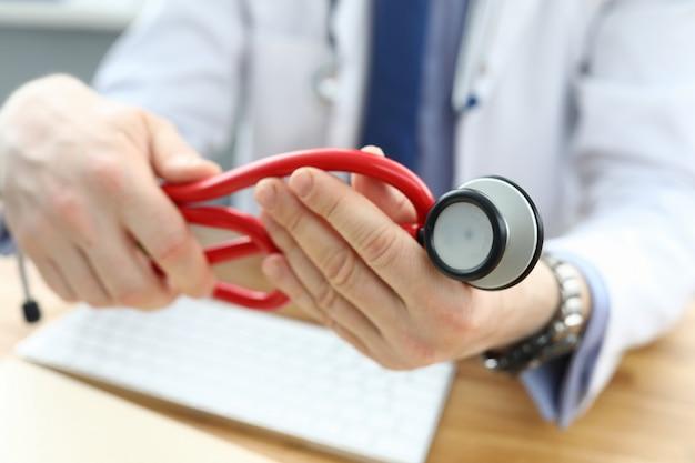 Docteur En Cabinet Personnel Photo Premium