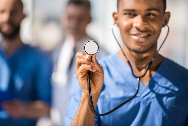 Docteur, stéthoscope Photo Premium